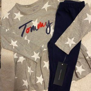 TOMMY HILFIGER Girls 4T 2pc outfiit NWT
